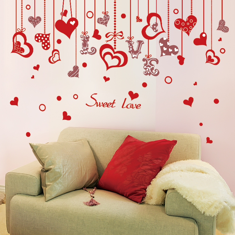 Aliexpress Buy Shijuehezi Love Wall Sticker Red Color Sweet