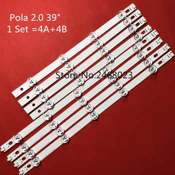 "100%NEW 8 Pieces LED backlight for TV 39LN5300 LG innotek POLA 2.0 POLA2.0 39\""A/B type HC390DUN-VCFP1 - Category 🛒 Lights & Lighting"