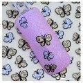 BLE736D Nova Moda Flash pó Bowknot 3D Nail Stickers Decalques Decorações Da Arte Do Prego de Transferência da Água projeto stickes