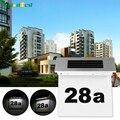 Led Sensor Solar Light Stainless Steel Solar Powered 4 LED Illumination Doorplate Lamp House Number Outdoor Lighting