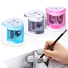 7-12mm Electric Pencil Sharpener Stationery Use Battery Automatic Pencil Sharpener Pen Knife Office School Supplies стоимость