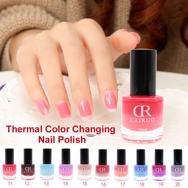 12ML CR Temperature Change Chameleon Makeup Non Toxic Peel Off Gel ...