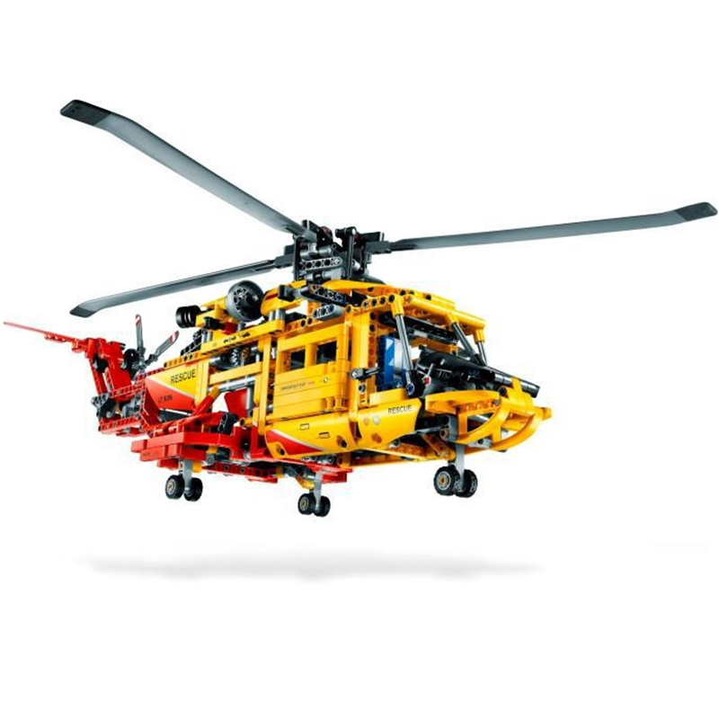 DECOOL Technic City Series 2-in-1 Rescue Helicopter Aircraft Building Blocks Bricks Model Kids Toys Marvel Compatible Legoings decool technic city series 2 in 1 helicopter building blocks bricks model kids toys marvel compatible legoings