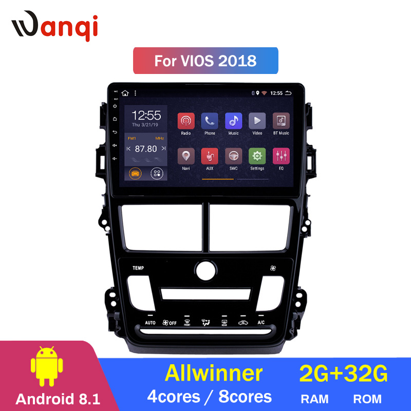 2G RAM 32G ROM Android 8.1 Car DVD Player GPS Navigation Multimedia For Toyota Vios Yaris Radio 20182G RAM 32G ROM Android 8.1 Car DVD Player GPS Navigation Multimedia For Toyota Vios Yaris Radio 2018