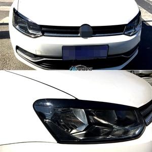 Image 5 - Carmonson سيارة المصابيح الأمامية الجفون الحاجب ABS تقليم ملصقات غطاء ل Volkswagen VW Polo MK5 2011 2017 اكسسوارات السيارات التصميم