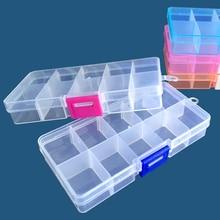 10 сетки прозрачный ящик для хранения дома DIY Ювелирные изделия бусины для ногтей блесток Алмаз получить случае регулируемый портативный органайзер коробка