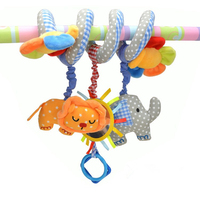 Baby Crib Mobile Musical Baby Toys 0 12 Months Elephant Lion Flower Bed Crib Baby Rattle
