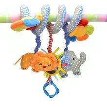 Детские Кроватки Музыкальный Мобильный Детская Toys 0-12 Месяцев, Слон, Лев-Цветок кровать Детская Кроватка Ребенка Погремушку Висячие Автомобиль Коляска коляска Toys For Kids