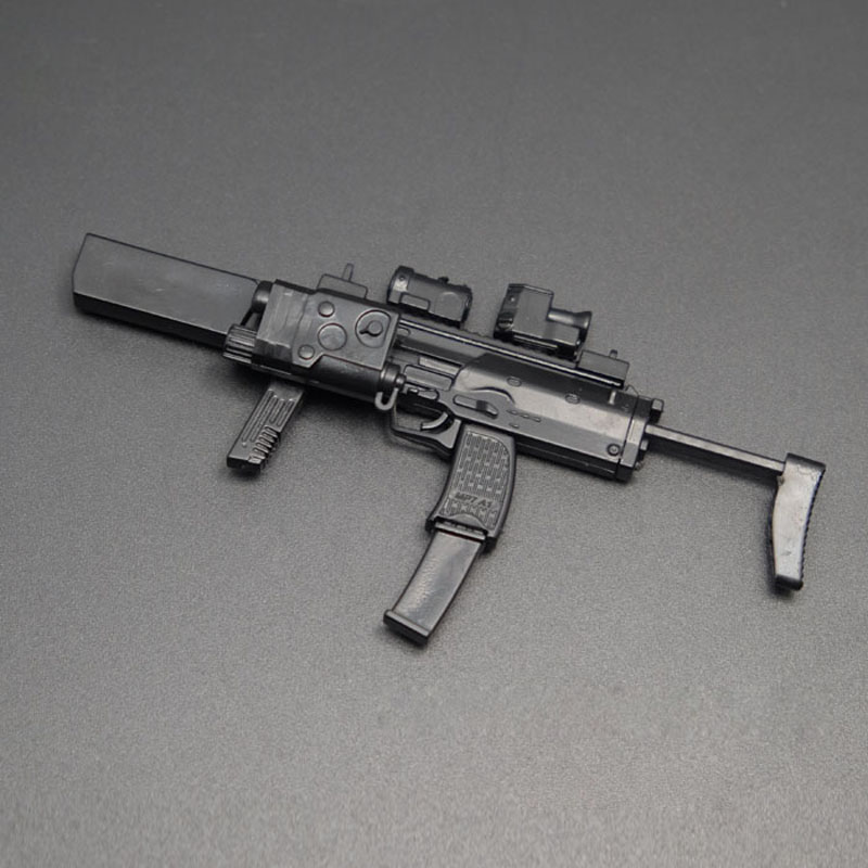1:6 guns mp7 & mp5 & dagger mp40 & uzi kriss submachine gun & hk53 cabbeen  & mk18 military model of rifle assembly 8 guns/lot