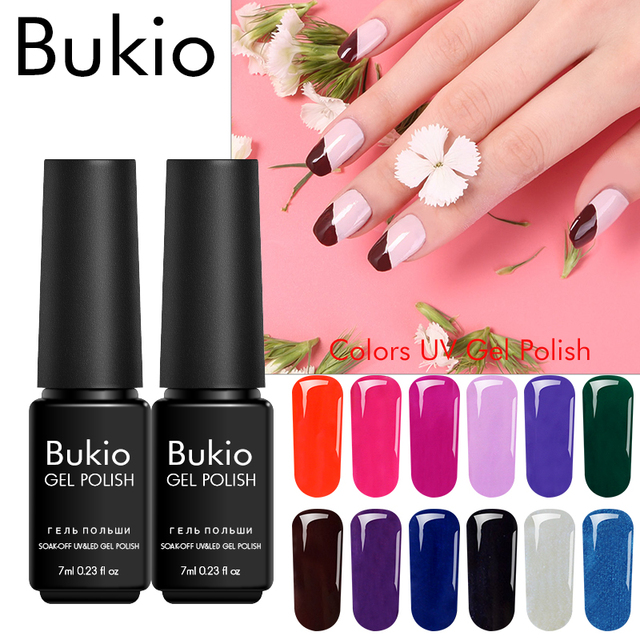 Bukio Gel Varnish Sequins For Manicure And Nail Design Permanent