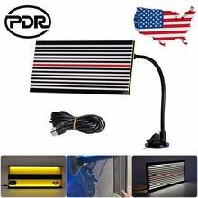 Полоса PDR для беспокрасочного ремонта вмятин, комплект инструментов для отражения вмятин, лампа PDR, детектор вмятин для удаления вмятин на кузове автомобиля