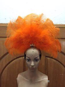 Image 3 - Accessori Di Moda squisita piume del copricapo Delicato di ballo di ballo latino Samba mostra accessori