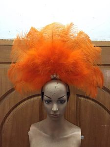 Image 3 - Latin dance Samba accessories Fashion exquisite headdress feathers Delicate dance shows accessories