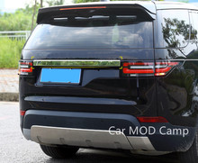 Для Land Rover Discovery 5 L462 2017 2018 нержавеющая сбоку сзади хвост крышка багажника под давлением Крышка отделка 1 шт. автомобиля стиль аксессуары