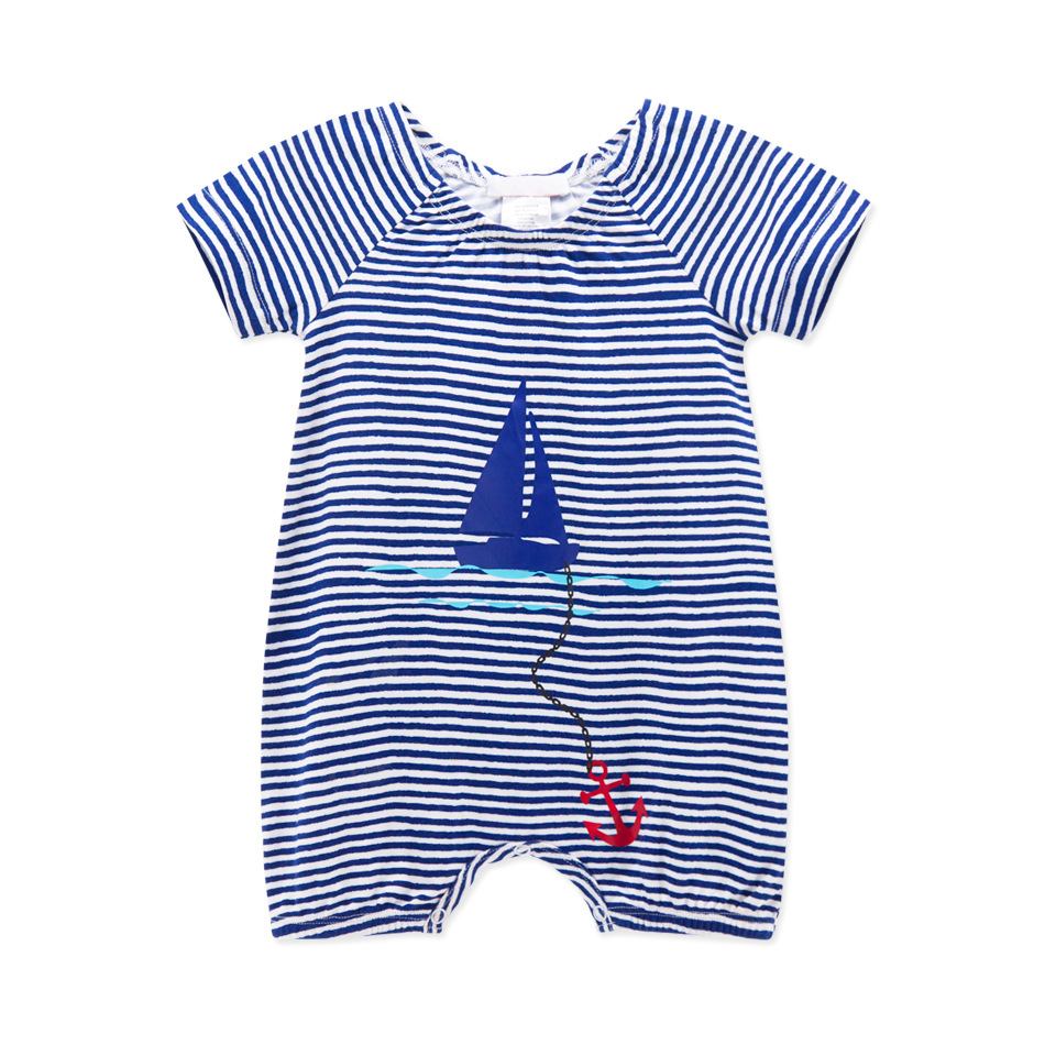 2016 Newest Baby Sailor Rompers Summer Baby Girl Clothing Sets Short Sleeve Jumpsuit Newborn Baby Boy Clothes Blue Bebes Suit 2016 summer short sleeve baby boy sailor suit jumpsuit infant clothing navy newborn baby rompers