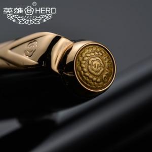 Image 3 - Оригинальные ручки Hero 1079 ультратонкая ручка 0,38 мм Студенческая слово офисная бизнес Подарочная коробка черный розовый синий элегантные дамы Бесплатная доставка