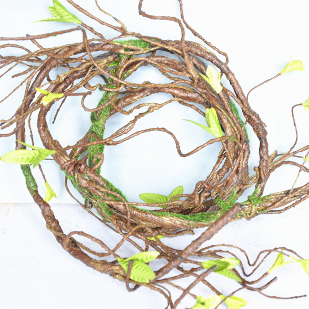 593324132 90 CM Simulação galhos de Árvores Artificiais Rattan Grinalda Da Videira Da  Flor Para O Casamento