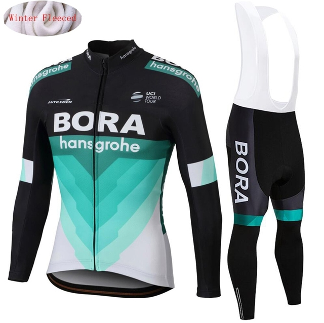 6bcc400e0 BORA 2018 Team Winter Thermal fleece cycling Jersey Bike Pants set men Ropa  Ciclismo Bicycle long