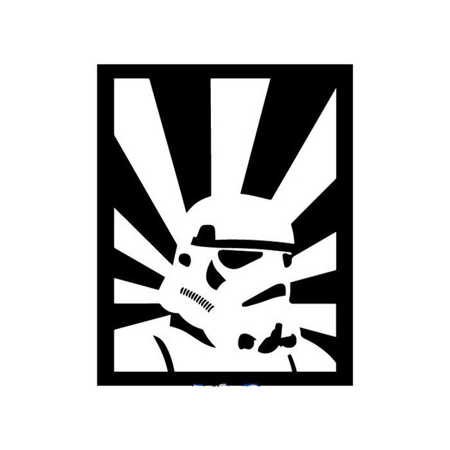 13cm16 5cm storm trooper rising sun fan inspired star wars fun vinyl decal car