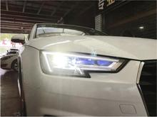 Car Styling For A4L headlight,car accessories,DRL,2017 2018 2019,A4L Head light in All LED,6500k,a4l daytime running light,A4