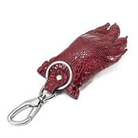 Real Crocodile Claw Leather Keychain Vintage Fashion Men Women Car Key Wallet Ring Chain Holder Pendant Keyring Male