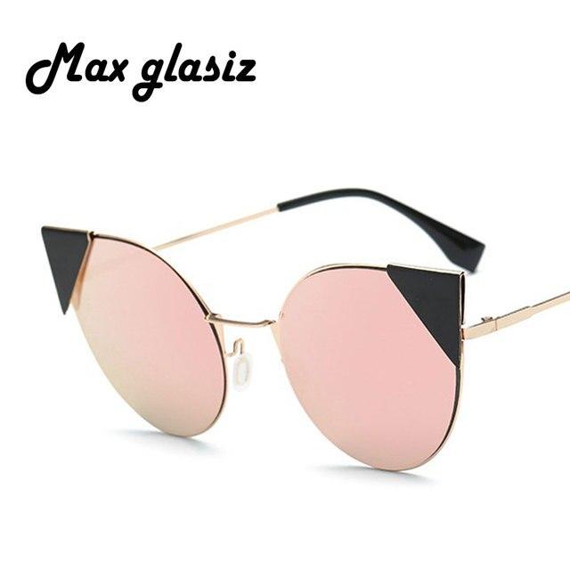 b72f439f3866c Nova Moda Olho de Gato óculos de Sol Espelho Rosa Cateye Óculos De Sol  Femininos Da