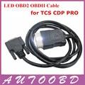 Лучшее Качество CDP LED OBD2 Кабель для CDP PRO PLUS/новый vci CDP OBD 2 OBDII КАБЕЛЬ СКАНЕРА CDP аксессуары