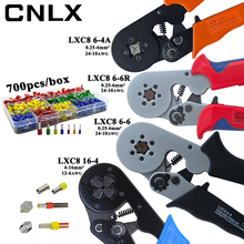 Alicates de prensado LXC8, caja de terminales de tubo eléctrico, mini herramientas de abrazadera de marca, 10S 0,25 10 mm2 23 7AWG LXC8 6 4/6 6 0,25 6 mm2 LXC8 16 4