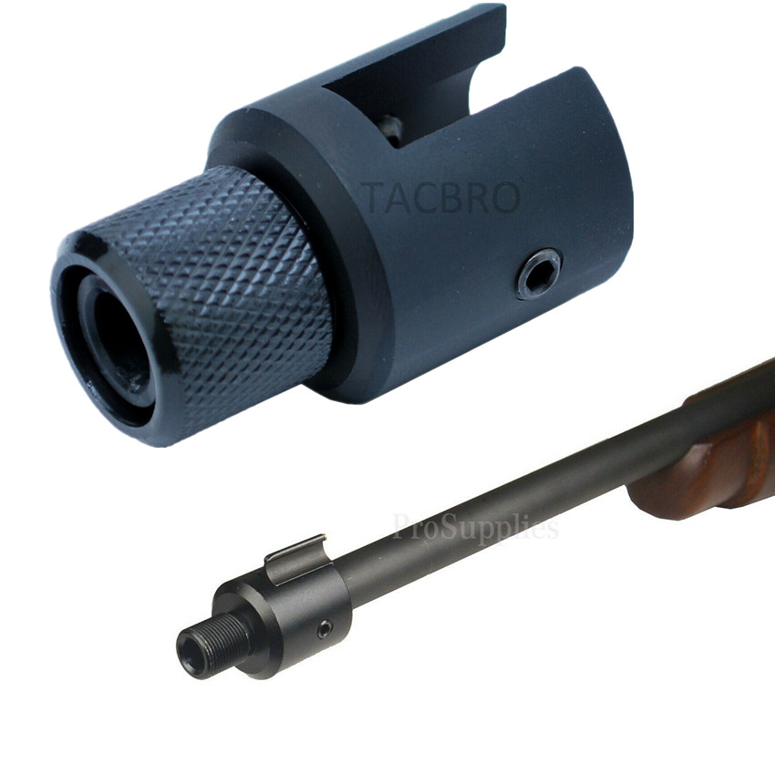 Aluminum Ruger 1022 10/22 Muzzle Brake Adapter 1/2x28 & 5/8x24 .750 Barrel End Thread Protector Combo .223 .308
