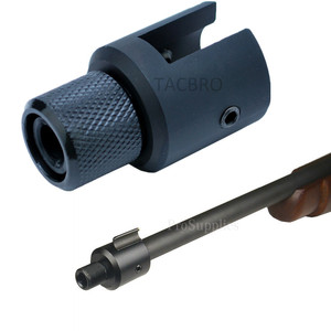 Aluminum Ruger 1022 10/22 Muzzle Brake Adapter 1/2x28 & 5/8x24 .750 Barrel End Thread Protector Combo .223 .308(China)