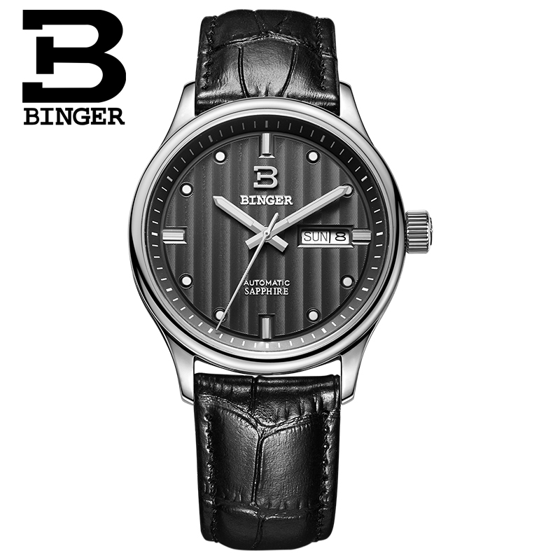 Szwajcaria zegarki luksusowe marki zegarki na rękę BINGER biznes - Męskie zegarki - Zdjęcie 2