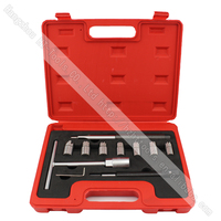 11pcs Auto Repair Tools of Diesel Injector Seat Cutter Set Cleanner
