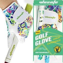 Женские кожаные перчатки для гольфа дышащие phantom color с