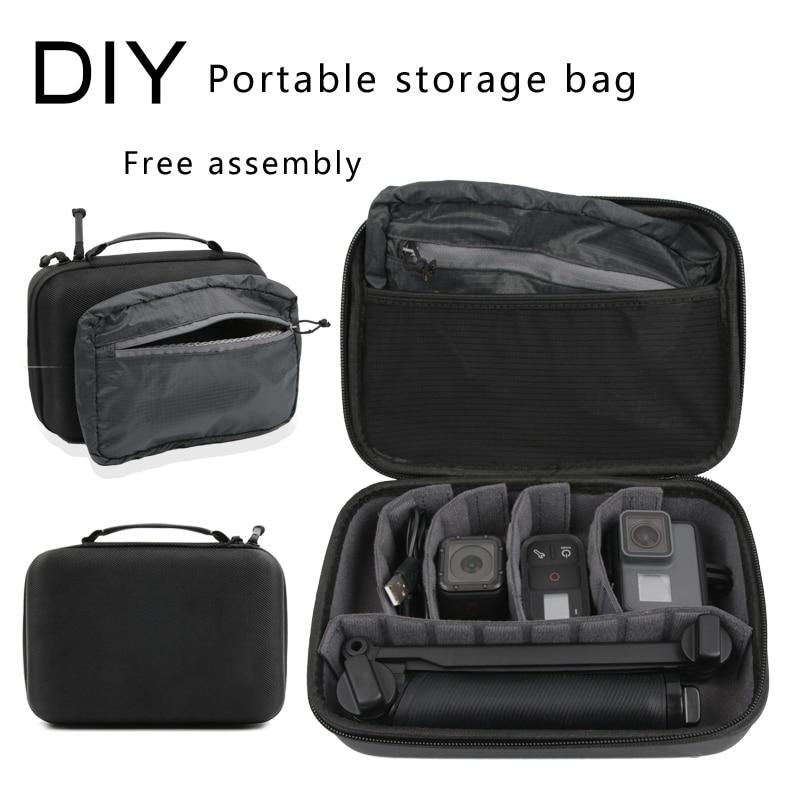 Go Pro Travel Storage Bag Waterproof Box Large Size Case For GoPro Hero 7 6 5 4 3+ Session Xiaomi Yi 4K  Eken Camera Handbag