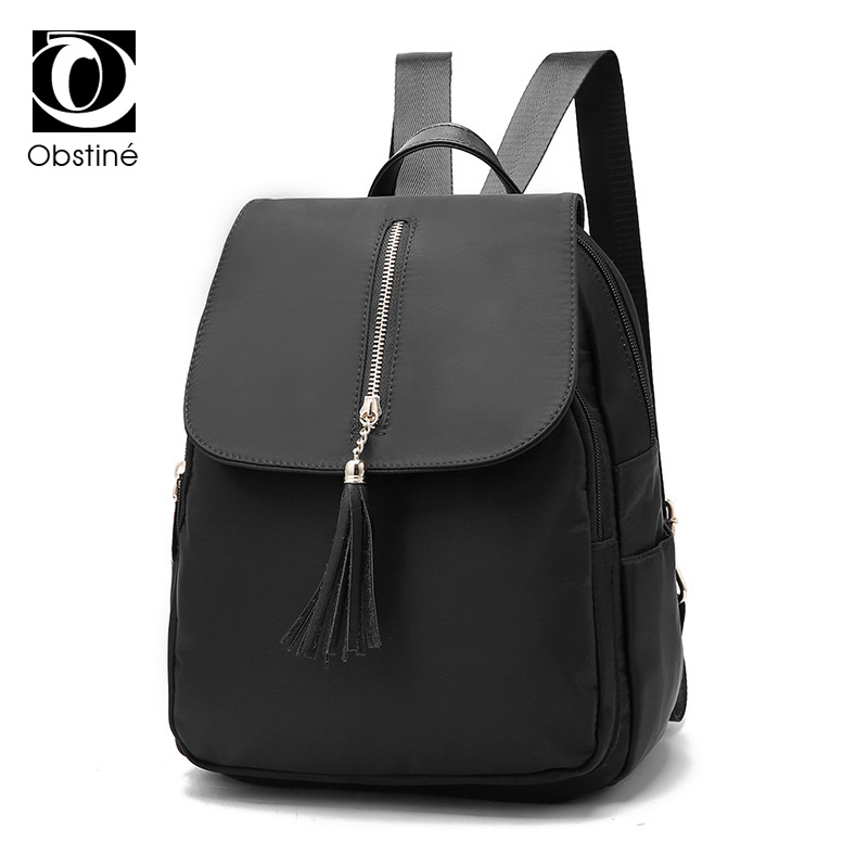 fashion women backpack waterproof nylon casual shoulder bags for girls black daypack female travel bagpack womens backpacks bag coofit 3 in 1 multifunction unisex backpack bagpack retro canvas laptop backpacks for women men travel daypack shoulder bag