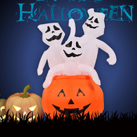 120CM 4FT Three Ghost in Pumpkin Inflatable Toys LED Lighted Home Yard Outdoor Decoration Christmas Easter Halloween Party Props