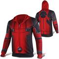 Mens Casual Deadpool Superhero Wade Winston Wilson Zip up Cosplay Hoodies Coats Sweatshirts