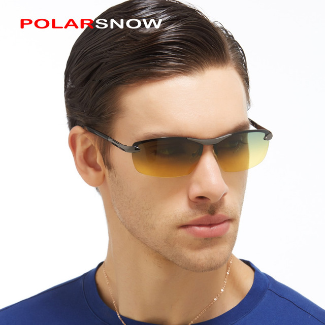 High Quality Sun Glasses For Day And Night Vision 2017 Polarized New Driving Sunglasses Gafas Oculos De Sol Masculino Sunglass