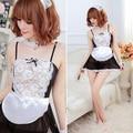 Sexy Lingerie Black White Avental Francês Maid Servo Lolita Costume Dress Uniform 2017