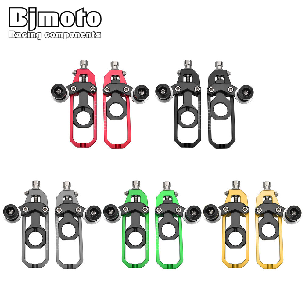 Bjmoto 5colors Motorcycle Chain Adjusters Tensioners Catena with Spools For Kawasaki ZX10R 2011 2012 2013 2014 2015 2016 moto