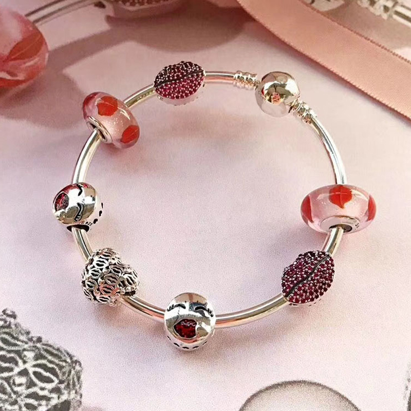Popular 100% 925 Sterling Silver Heart Travel Bangle For Girls Good Quality Travel Theme Gift Fashion Jewelry Women Bracelet