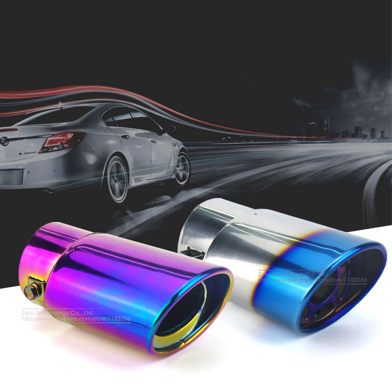 Car Auto Exhaust Muffler Tip Stainless Steel Pipe Chrome Trim Modified Car Rear Tail Throat Exhause Liner Accessories Universal