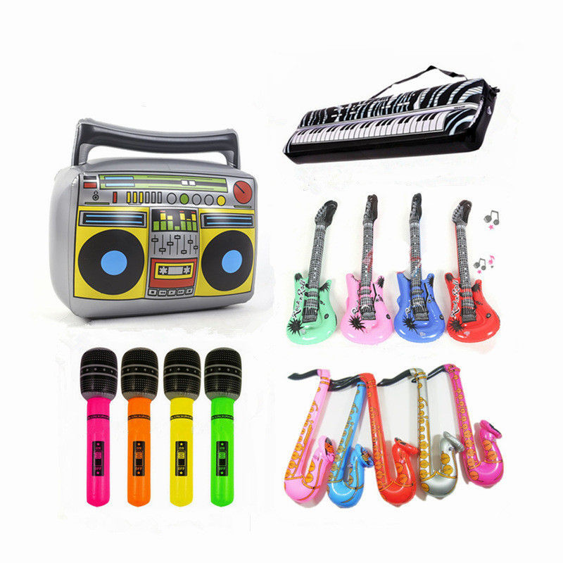 6 Style PVC Inflatable Instrument Toys For Children Carnival Party Music Band Pretend Game They Play Accessories For Kids