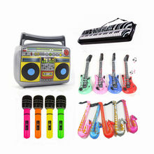6 Style PVC Inflatable Instrument Toys For Children Carnival Party Mus