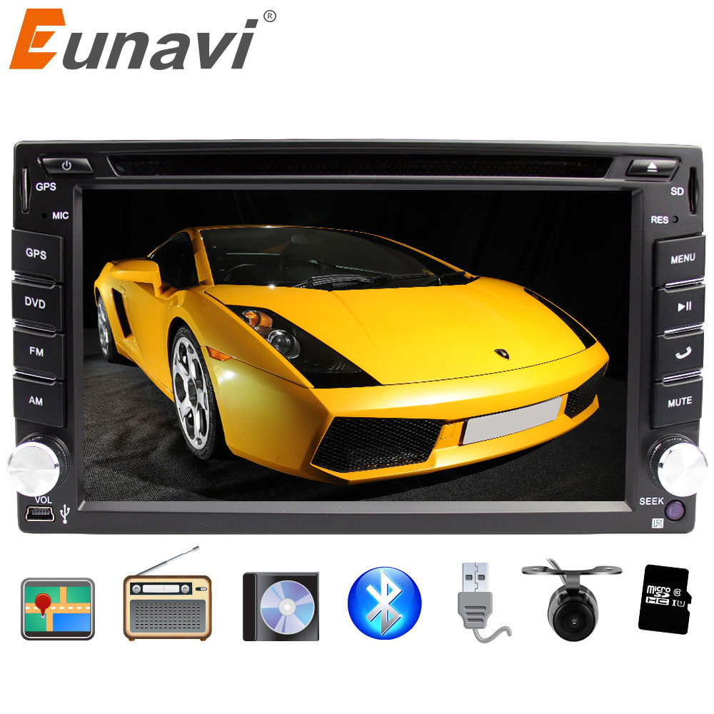 Eunavi Double 2 din universal Car DVD Radio Player GPS Navigation for nissan In dash Car PC Stereo Head Unit video+Bluetooth 6 2 inch 2 din in dash car dvd player gps navi system for old toyota universal vios rav4 collora sequoia yaris hiace highlander