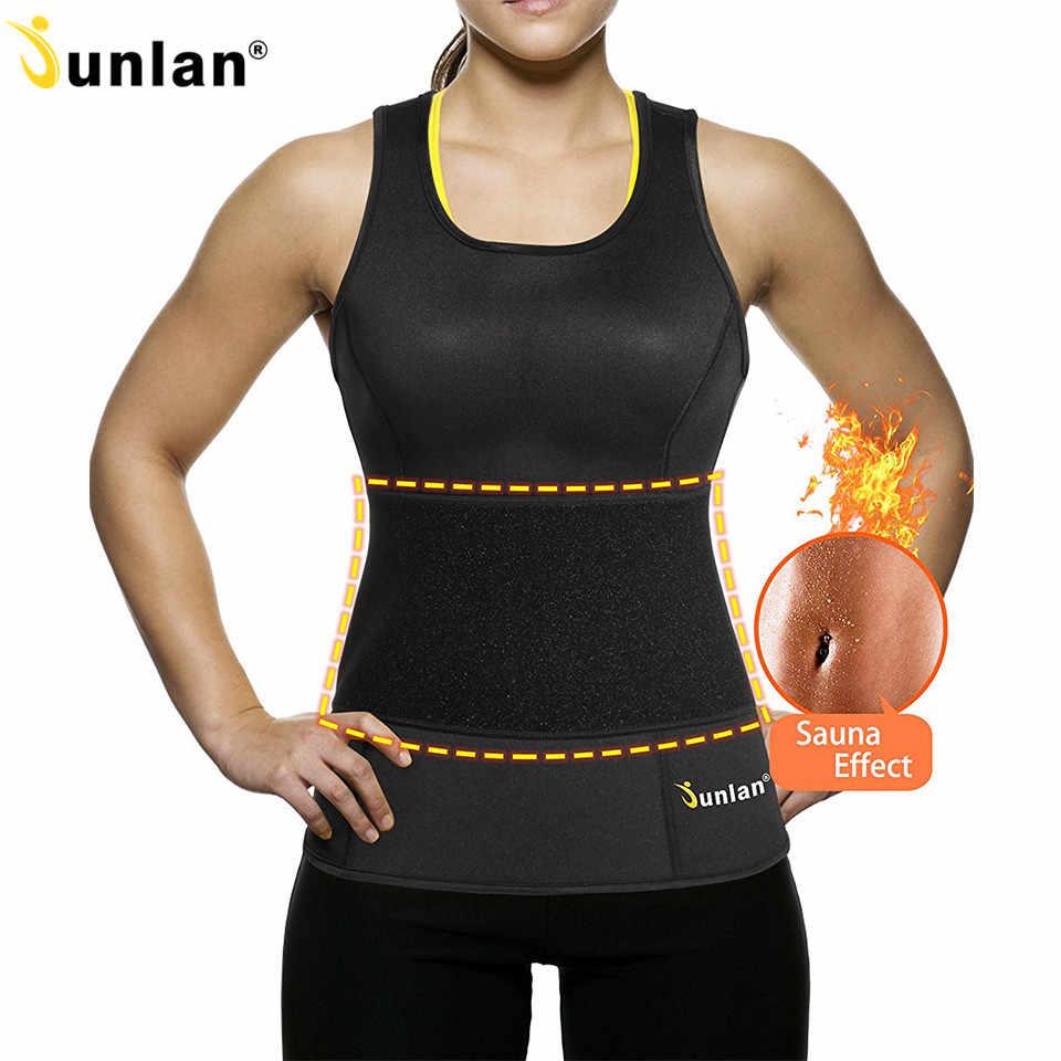 Junlan Shaper Женский поясной тренажер жилет с эффектом сауны неопреновое моделирующее белье моделирующий Ремень контроль тела корсет для тренировки снижение