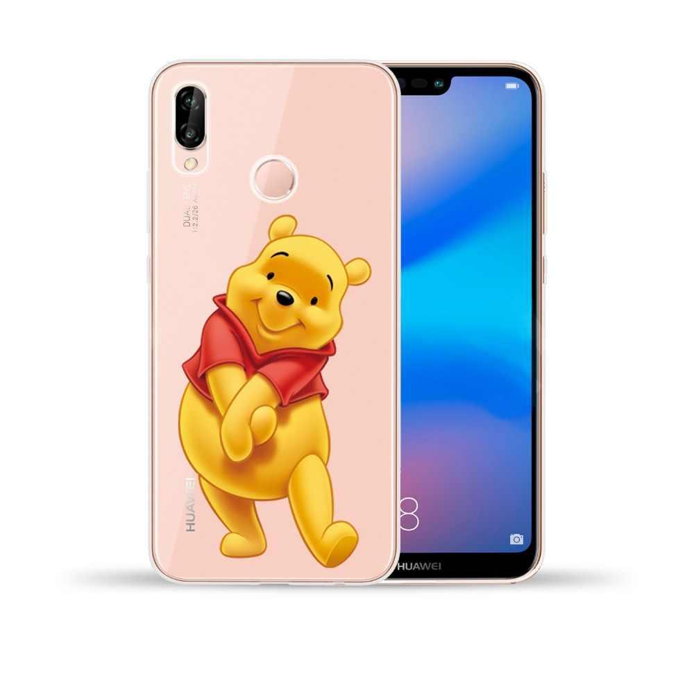 Cute Winnie Pooh Soft TPU Case Cover For Huawei P8 P9 P10 P20 P30 Lite Pro Y5 II Y6 II Y3 Y7 Y9 2017 Y5 Prime Y6 Y9 2018 2019