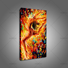 Hand-painted Acrylic angle oil Paintings Colorful Knife Palette Nude girl Oil Painting Naked Picture Wall Art hotel wall Decor цена в Москве и Питере