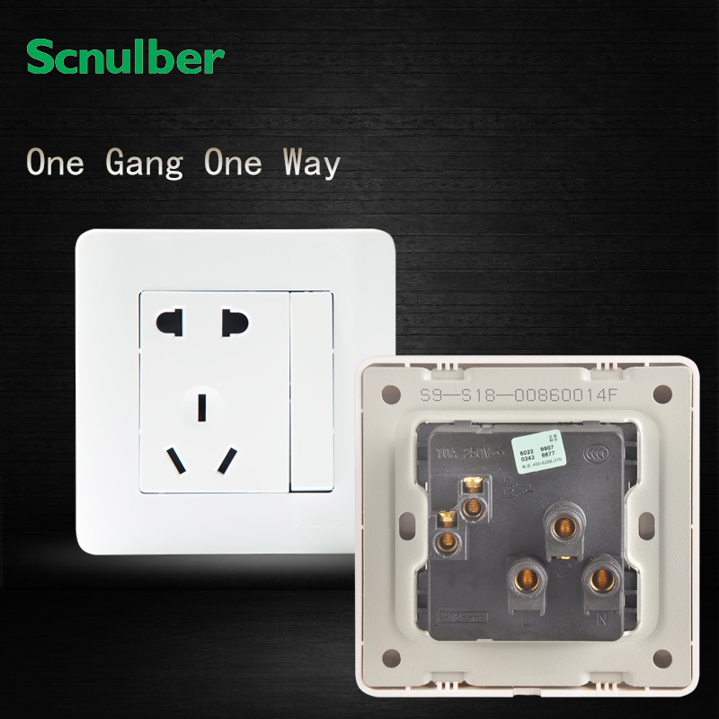 1gang 1 Way Switched Socket With 2pin Us  U0026 3pin Au 16a