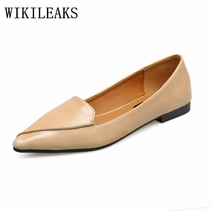 Vintage flat shoes women loafers autumn women shoes high quality leather shoes woman luxury brand shoes women pointed toe flats imc vintage women flat shoes white us4 eur35 length 22 5cm